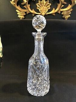 12.5 Waterford Cut Glass Liquor Decanter with Stopper Signed