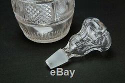 1800 Whisky Decanter Georgian Cut Glass Barrel Port Sherry Antique English Retro