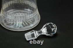 1900 Decanter Cut Glass Mallet Port Sherry Whisky Antique Edwardian Carafe Retro