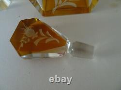 1930s Art Deco Decanter set. Cut Glass. Classic deco. Probably Czechoslovakian