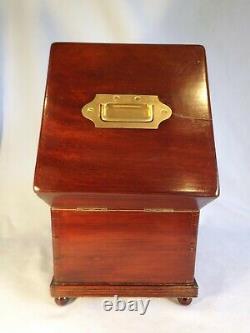 19c Mahogany Tantalus/Decanter Box Lock & Key