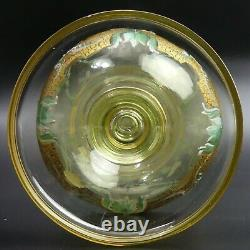 19th CENTURY ANTIQUE BOHEMIAN ENAMELLED GLASS DECANTER, GLASSES & TRAY