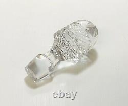 1 Ajka King Louis Cobalt Blue Cut To Clear Crystal Teardrop Decanter WithStopper