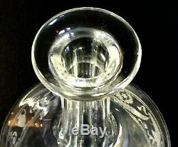 1 (One) BACCARAT CROIZET Cognac Cut & Etched Crystal Decanter 1950s MCM- Signed