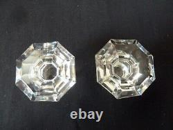 2 (pair) ANTIQUE CELL CUT DECANTERS WITH POURING LIP, PROBABLY BY BACCARAT h21,8
