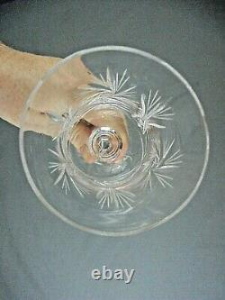 7pc Bohemian Czech Crystal Deep Cut Pinwheel Decanter & Stemmed Wine Glass Set