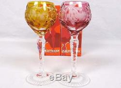 8 Nachtmann Traube Cut-To-Clear Cordials withBoxes + Neubert Crystal Decanter