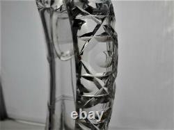 ABP Cut Glass Handled Decanter Glenwood Pattern by Bergen