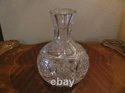 ABP Cut Glass Water or Wine Carafe Signed Libbey SALE