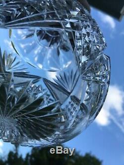 ABP Libbey AMERICAN BRILLIANT CUT GLASS Corinthian Water Bottle Carafe Decanter