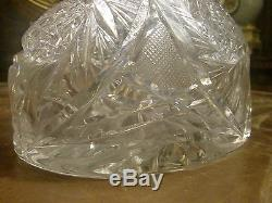 American Brilliant Cut Glass Decanter, Abp, Circa 1905