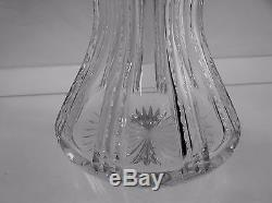 American Brilliant Cut Glass Dorflinger Tall Flute & Miter Decanter Match Stoppr
