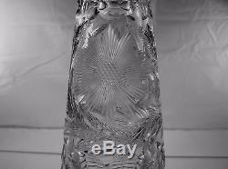 American Brilliant Cut Glass Steeple Shaped Decanter Lillian By William Anderson