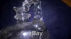 AMERICAN BRILLIANT CUT GLASS WHISKEY DECANTER & 6 WHISKEY GLASSES