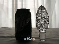 AMERICAN BRILLIANT cut glass MASSIVE 17-1/2 decanter in beautiful PERSIAN cut
