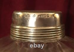 ANTIQUE 19thC VICTORIAN SILVER FREDERICK BRADFORD MCCREA CUT GLASS DECANTER 1890