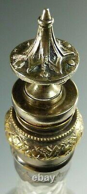 ANTIQUE Decanter Aesthetic Period Ornately Cut Decanter & S/ Plate Stopper
