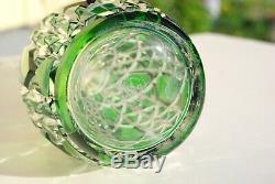 A Magnificent Baccarat Decanter Emerald Green Cut Glass France