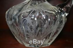 Abp c1900 American brilliant cut glass decanter, Hawkes, Tuthill, Libbey, Thistle, 7