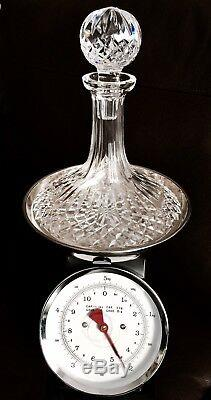 Absolutely Fantastic Quality Heavy (2.1kg) English Lead Crystal Ship's Decanter