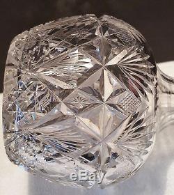Am Brilliant Cut Glass Carafe Decanter Hawkes Brazilian Cut