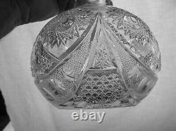 American Brilliant Cut Glass 1-1 Rated Byzantine By Meriden Carafe. The Finest