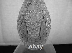 American Brilliant Cut Glass Rare Bowling Pin Decanter Propellor By Parsche
