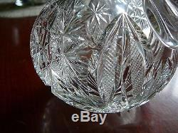 American Brilliant Deep Cut Crystal Small Decanter Cruet Crystal Stopper ABP