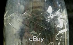 Antique 1815 To 1851 Keene Marlboro Glassworks NH Hand Blown Cut Glass Decanter