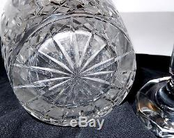 Antique ABP Crystal Decanter Cut Stopper Star Bottom Numbered American Brilliant