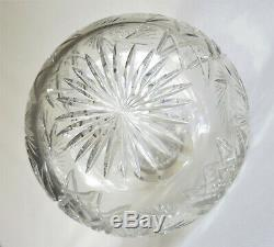 Antique ABP Cut Crystal Clear Decanter with Sterling Collar