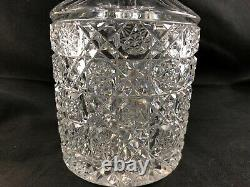 Antique ABP Cut Glass Double Miter CALVE 8 1/2 Decanter / Carafe Egginton