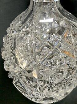 Antique Abp Wonderfully Superior J. Hoare Cut Glass Whiskey Decanter Bottle