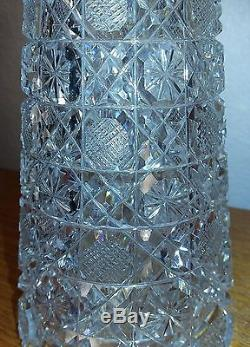 Antique American Brilliant Cut Cane Pattern Crystal Decanter GORGEOUS