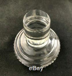 Antique Anglo Irish Cut Glass OLD IRISH Pattern Step Neck Decanter