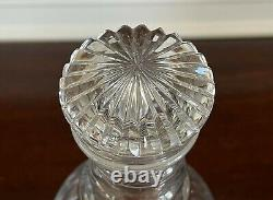 Antique Anglo-irish Flute Cut Glass Decanter Georgian Style Mushroom Stopper