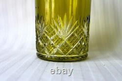 Antique Baccarat chartreuse crystal cut to clear perfume decanter set c 1903