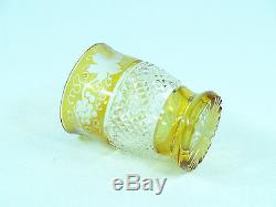 Antique Bohemian Cut Glass Decanter Shot Glasses Set