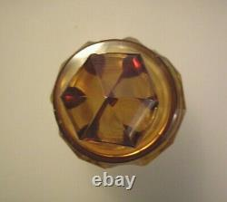Antique Bohemian Cut to Clear Etched Glass Decanter Moser Attributed