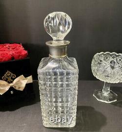 Antique Crystal Whiskey Bottle Cut Glass Decanter Edwardian