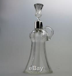 Antique Cut Glass Rare Edinburgh crystal thistle Whisky Noggin / Decanter C. 1911