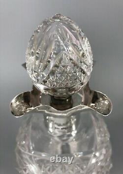 Antique Cut Glass Silver Decanter Walker & Hall Sheffield 1937 IZX