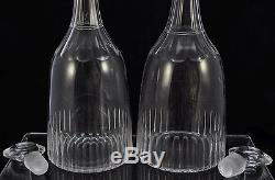 Antique Early 19th Century Anglo Irish Pair of Cut Glass Decanters plus Bonus
