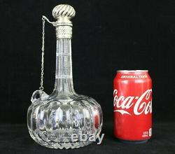 Antique Gorham ABP Cut Glass Decanter with Sterling Lid 9-3/8H c. 1889 S28