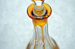 Antique Large Bohemian Cut Glass Decanter 15.5 Tall