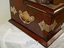 Antique Mahogany Decanter /Tantalus with Games & items and provenance, c 1897 +