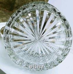 Antique Silver & Cut Crystal Glass Pitcher Decanter Hallmarked Lion Passant