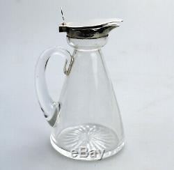 Antique Solid Silver Hukin & Heath Whisky Noggin Mini Spirit Decanter 3 C. 1917