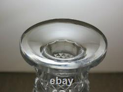 Antique Very Unique Georgian Cut Glass 3 Ring Round Decanter