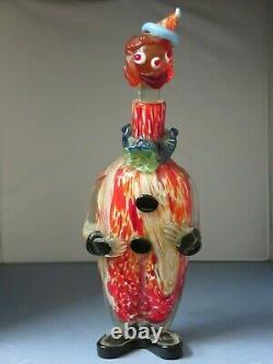 Antique Very Unique Murano Glass Clown Decanter